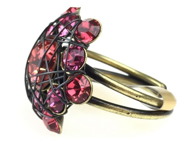 Konplott Bended Lights Ring in Koralle/ Pink #5450527759960