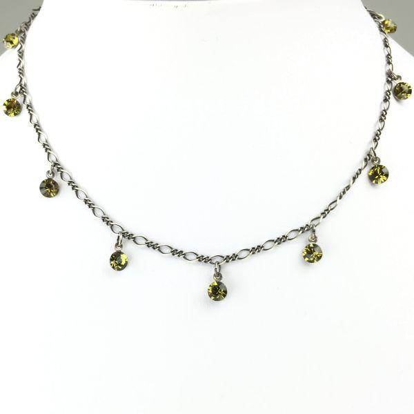 Konplott Tutui khaki Halskette steinbesetzt #5450527641159