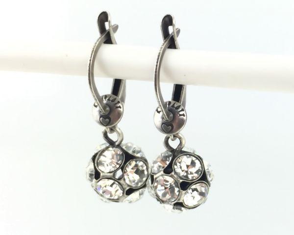 Konplott Disco Balls crystal Ohrhänger mit längl. Verschluss #5450527597005