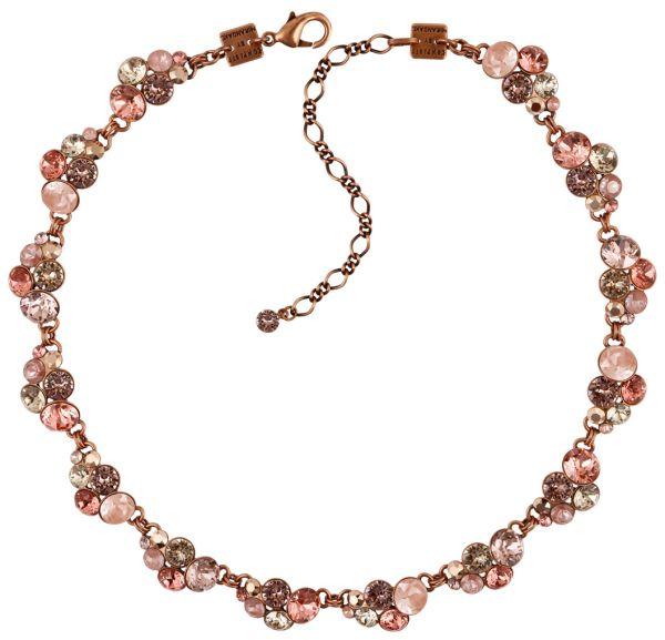 Konplott Petit Glamour steinbesetzte Halskette in pink #5450543766454