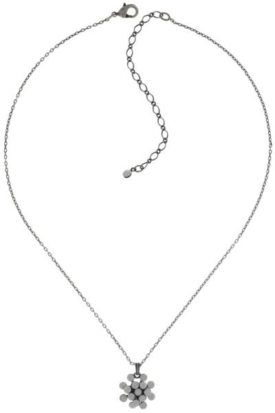 Konplott Magic Fireball Halskette mit Anhänger Mini in weiß/grau opal #5450543727486