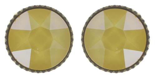 Konplott Black Jack Ohrstecker klassisch groß in gelb crystal buttercup #5450543730806