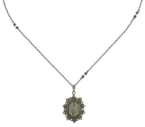 Konplott Kaleidoscope Illusion Halskette mit Anhänger in weiß Größe S #5450543761916