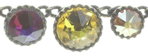 Konplott Water Cascade steinbesetzte Halskette in braun/orange #5450543772929