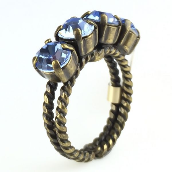 Konplott Colour Snake Ring in Light Sapphire, hellblau #5450527640909