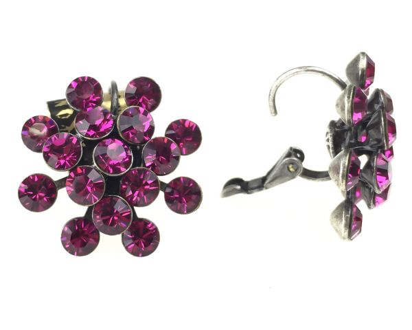 Konplott Magic Fireball Ohrhänger mit Klappverschluss in fuchsia, pink #5450527611879