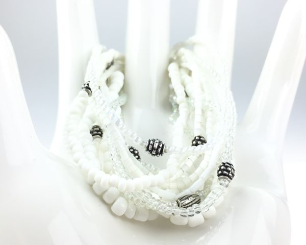 Konplott Petit Glamour d´ Afrique weißes Armband elastisch #5450527407304