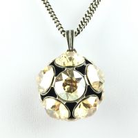 Konplott Disco Balls crystal golden shadow Halskette lang mit Anhänger L