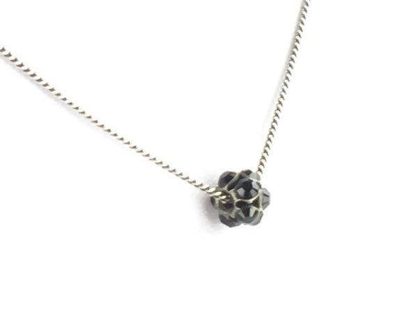 Konplott Disco Balls schwarze Halskette mit Anhänger S #5450527571418