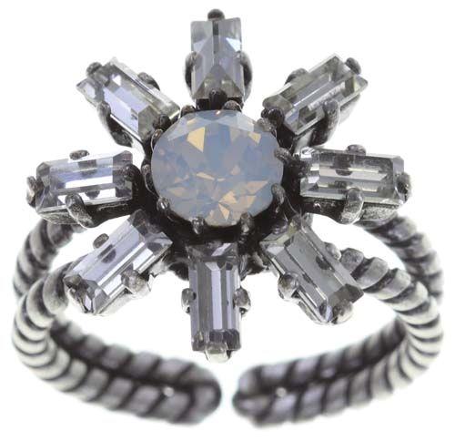 Konplott Spider Daisy Ring in weiß Größe S #5450543735917