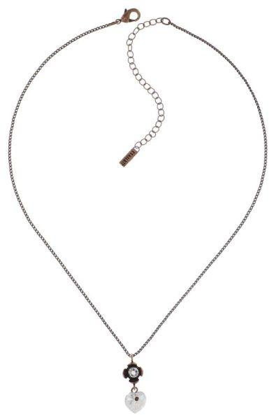 Konplott Little Frog Prince Halskette mit Anhänger in weiß #5450543708706