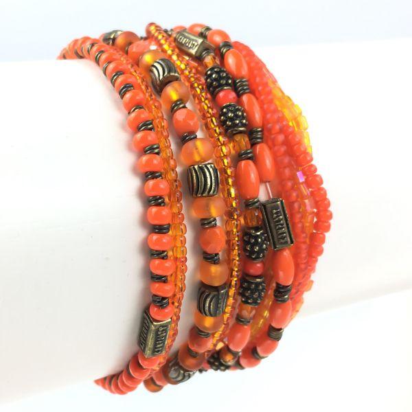 Konplott Petit Glamour d´ Afrique orangenes Armband elastisch #5450543117621