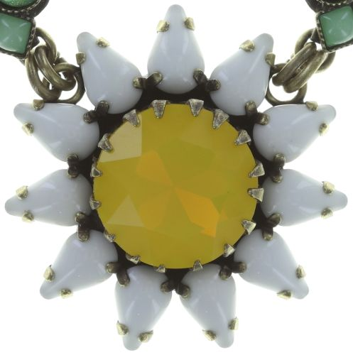 Konplott Sunflower Halskette in gelb/weiß/grün Größe L #5450543737546