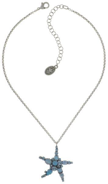 Konplott Jelly Star Halskette mit Anhänger in hellblau #5450543714080