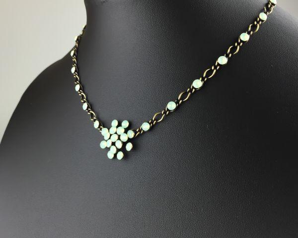 Konplott Magic Fireball chrysolite grün opal Halskette steinbesetzt #5450543133621