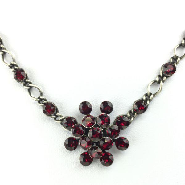 Magic Fireball Halskette steinbesetzt mit Anhänger in siam, dunkelrot
