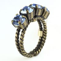 Colour Snake Ring in Light Sapphire, hellblau