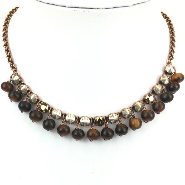 Konplott Earth, Wind & Glamour braune Halskette steinbesetzt #5450543458885