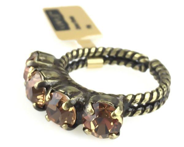 Konplott Colour Snake Ring in Light Smoked Topaz, hellbraun #5450527257077