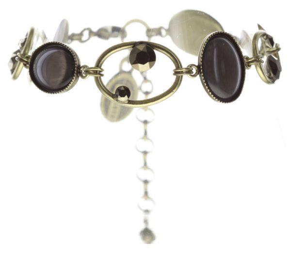 Konplott Oval in Concert Armband in grau #5450543697789