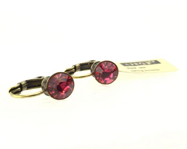 Konplott Black Jack Ohrhänger mit Klappverschluss in indian pink, pink/rot #5450527612326
