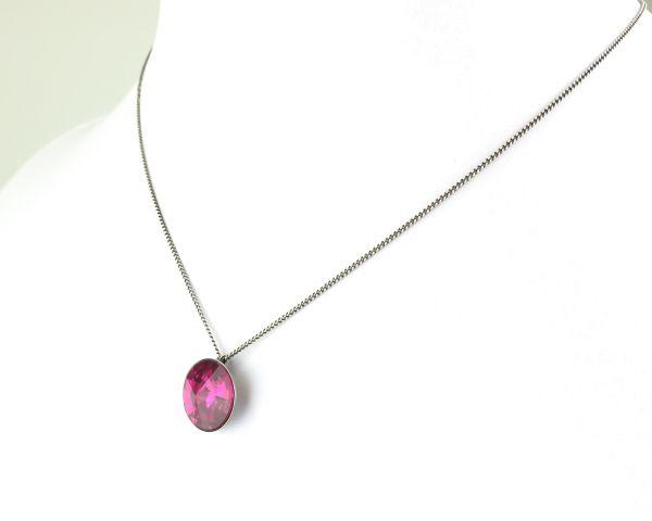 Konplott Rivoli fuchsia Halskette mit Anhänger, pink #5450527612913