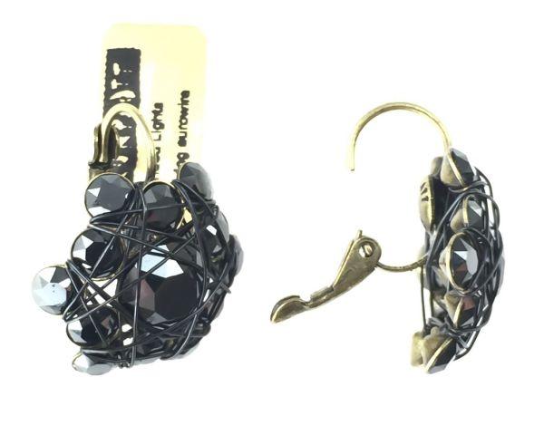 Konplott Bended Lights Ohrhänger mit Klappverschluss in Schwarz #5450527759526