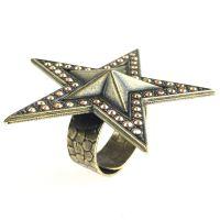 Konplott Dancing Star steinbesetzter Ring gold Stern #5450543622330