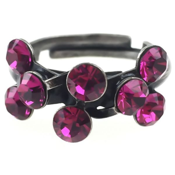 Konplott Magic Fireball 8 Stein Ring in fuchsia, pink #5450527611893