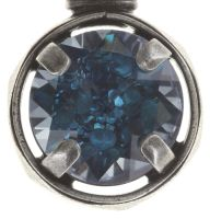 Medieval Pop Halskette mit Anhänger S Stein blau