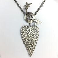 Konplott You Missed It Halskette mit Anhänger in Silber-Optik Herz, Pfeil #5450543635699