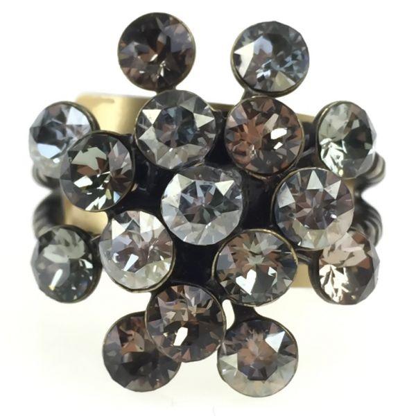Konplott Magic Fireball 16 Stein Ring in multi grau/ beige #5450543139210