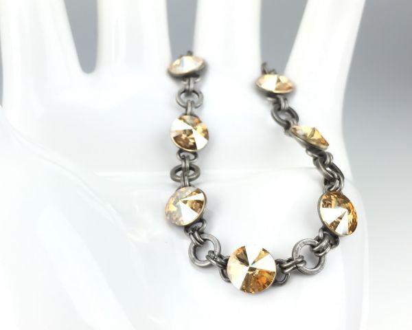 Konplott Rivoli crystal golden shadow Armband verschließbar #5450527640763