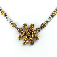 Konplott Magic Fireball Halskette steinbesetzt mit Anhänger in topaz