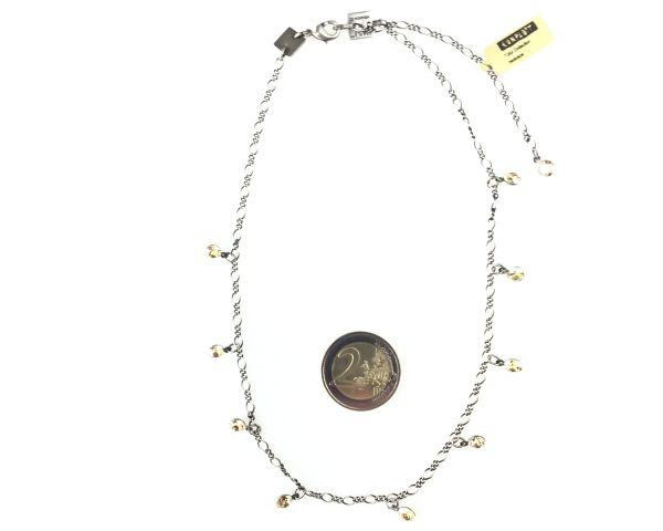 Konplott Tutui crystal golden shadow Halskette steinbesetzt #5450527641111