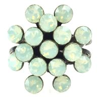 Magic Fireball chrysolite opal 16 Stein Ring
