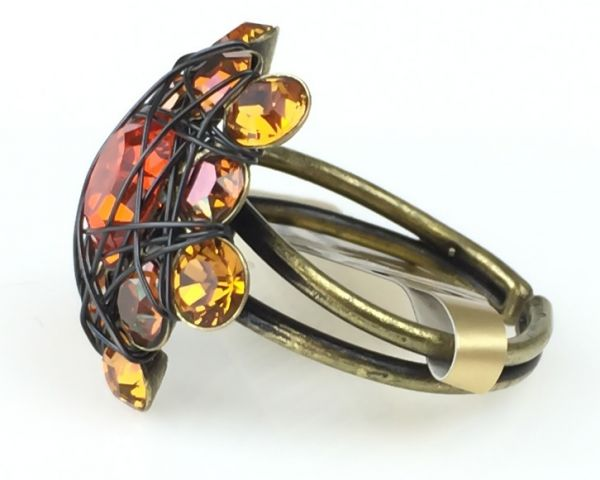 Konplott Bended Lights Ring in Orange/ Gelb #5450527760003