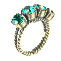 Konplott Colour Snake Ring in Emerald, dunkelgrün