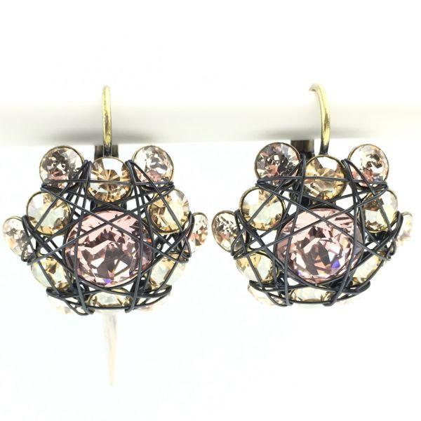 Konplott Bended Lights Ohrhänger mit Klappverschluss in Beige/ Vintage Rose #5450527759519