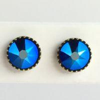 Konplott Black Jack Ohrstecker  klein in blue cobalt, blau #5450543649696