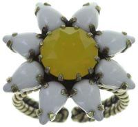 Konplott Sunflower Ring in gelb/weiß Größe S