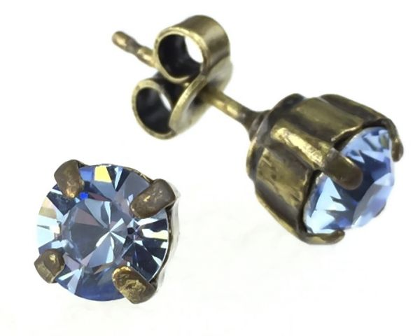 Konplott Black Jack Ohrstecker klassisch eckig in Light Sapphire #5450527110792