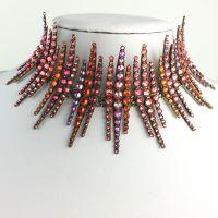Konplott Global Glam De Luxe rot/orangene Halskette Choker #5450543646565
