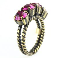 Colour Snake Ring in fuchsia, pink
