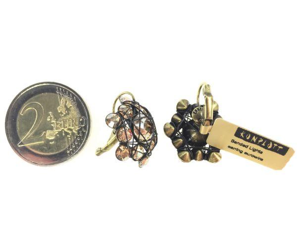 Konplott Bended Lights Ohrhänger mit Klappverschluss in Braun #5450527729741