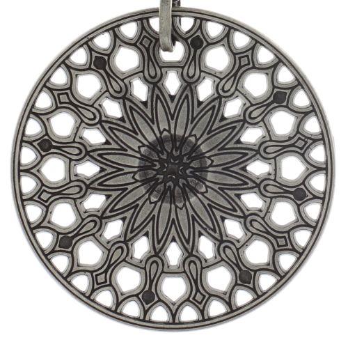 Konplott Rosone Halskette mit Anhänger Größe XL in schwarz #5450543654379