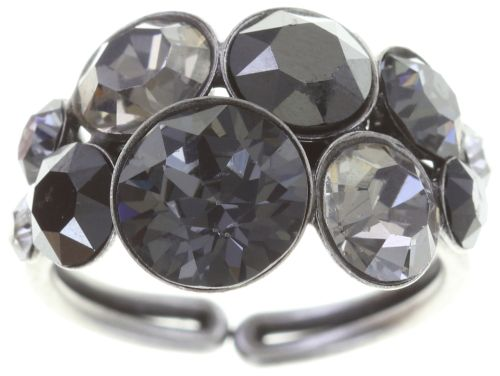 Konplott Petit Glamour Ring in schwarz #5450543726793