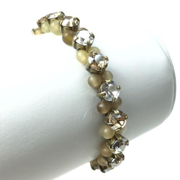 Konplott Earth, Wind & Glamour beiges Armband elastisch #5450543311364