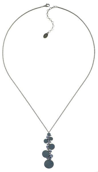 Konplott Planet River Halskette lang mit Anhänger blau #5450543644226