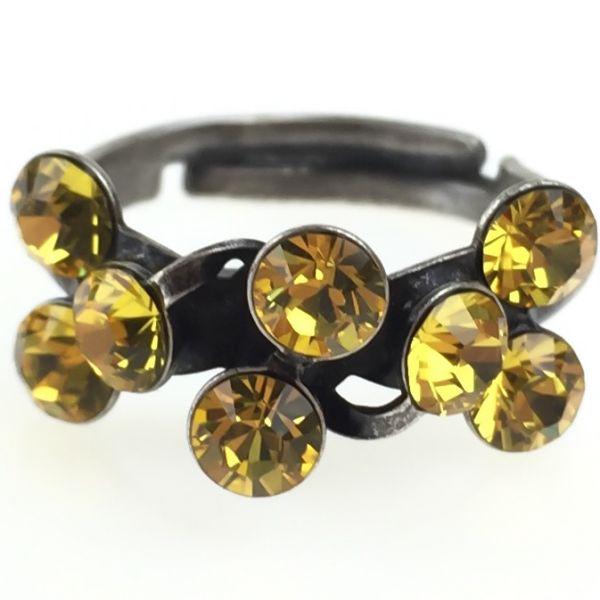 Konplott Magic Fireball 8 Stein Ring in light topaz, gelb #5450527640640